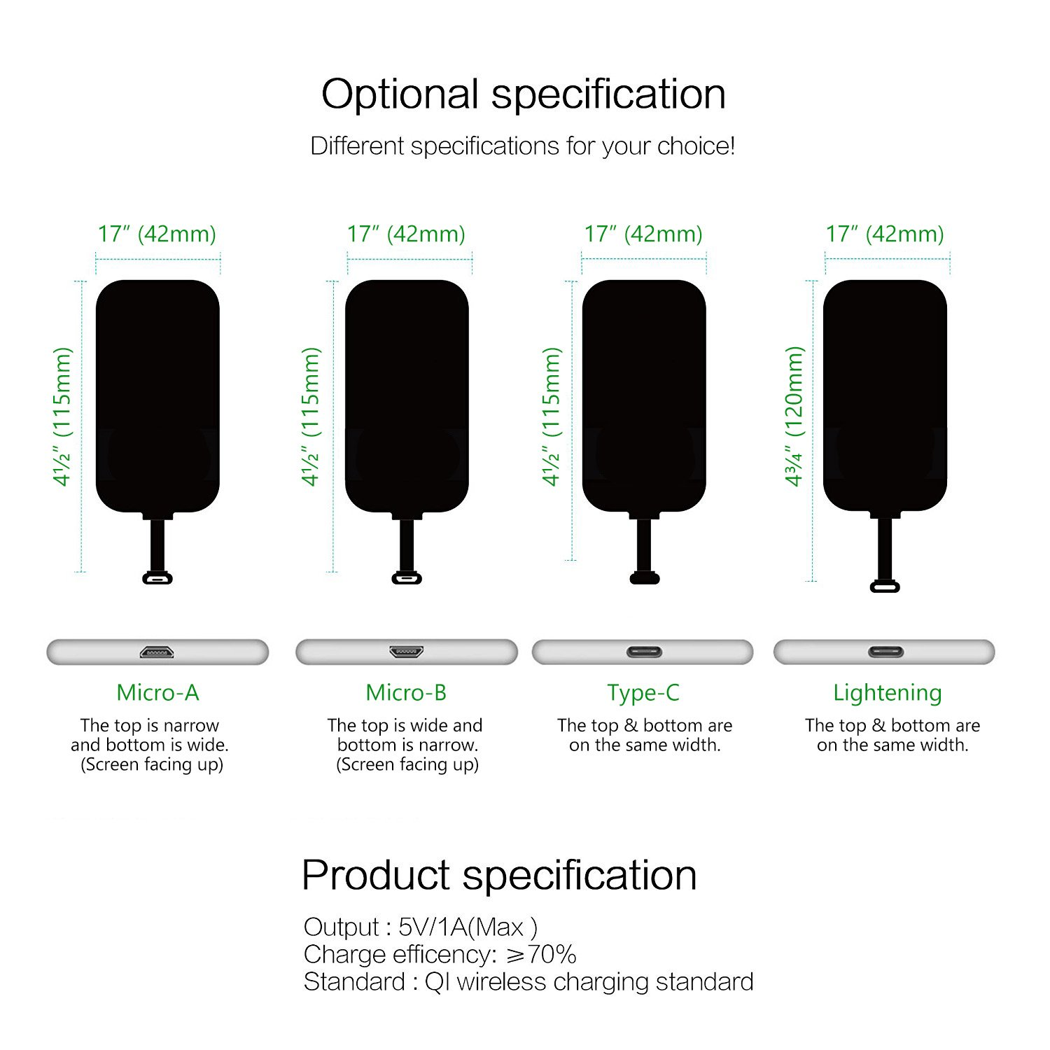 Wireless Charger Receiver Type C Cell Phones Htc Desire Circuit Diagram Accessories