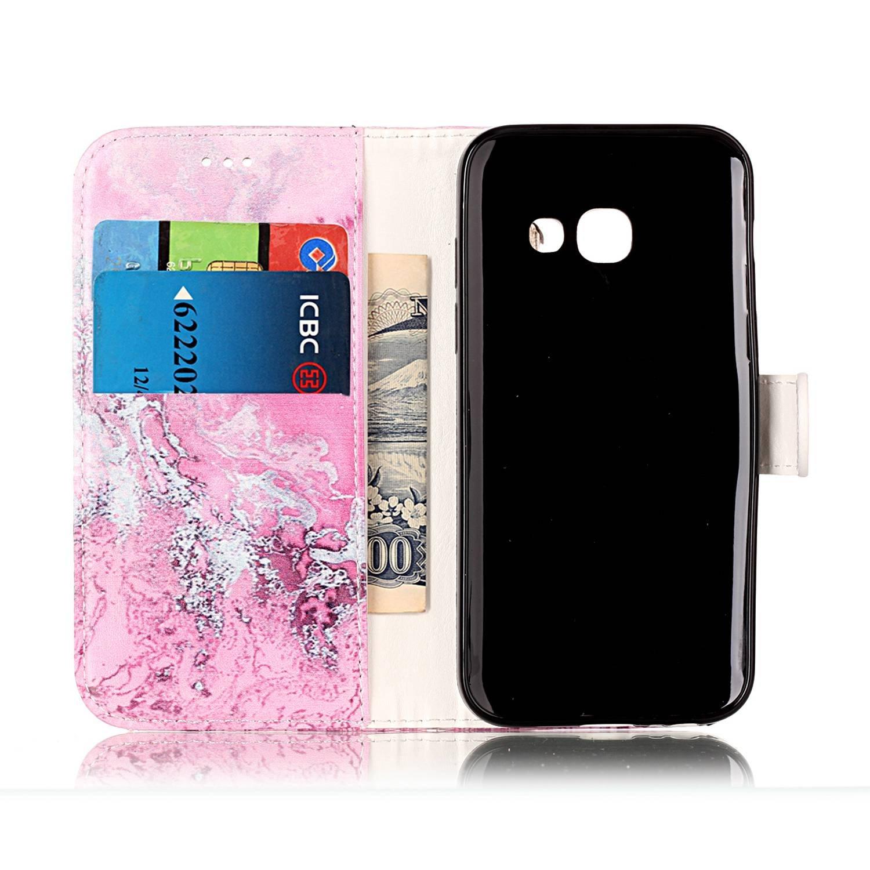 Lanyard Cover Casefor Samsung Galaxy A5 2017 // A520F Azalea SsHhUu Premium PU Leather Folio Wallet Magnetic Stand Card Slot Flip Protective Slim Galaxy A5 2017 Case 5.2