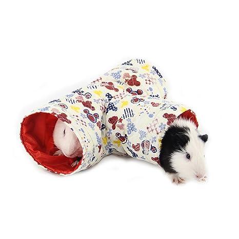 GFEU - Túnel de juguete plegable para gato, 3 vías, juguete para hámster,