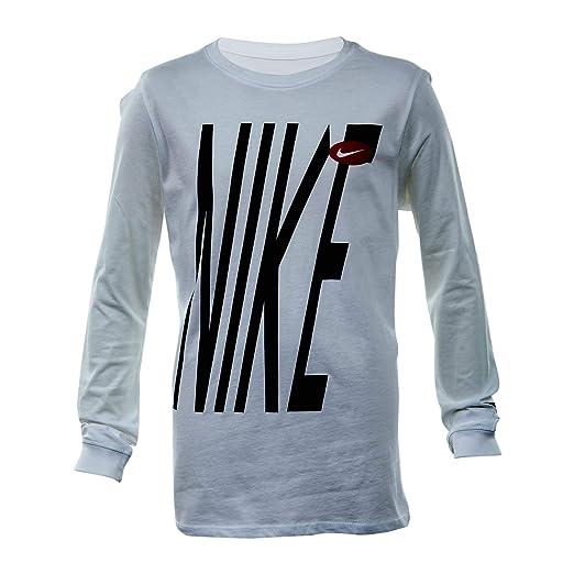 3a955b35 Amazon.com: Nike Bold Graphic Long-Sleeve T-Shirt Big Kids Style :  AR1908-100 Size : M White: Clothing