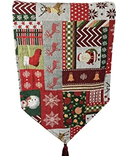Westeng Corredor Mesa de Encaje Camino de Mesa de Yute de Arpillera de Navidad Mantel Banner de Hogar Decoraci/ón de Navidad de Boda Size 275 30CM Azul