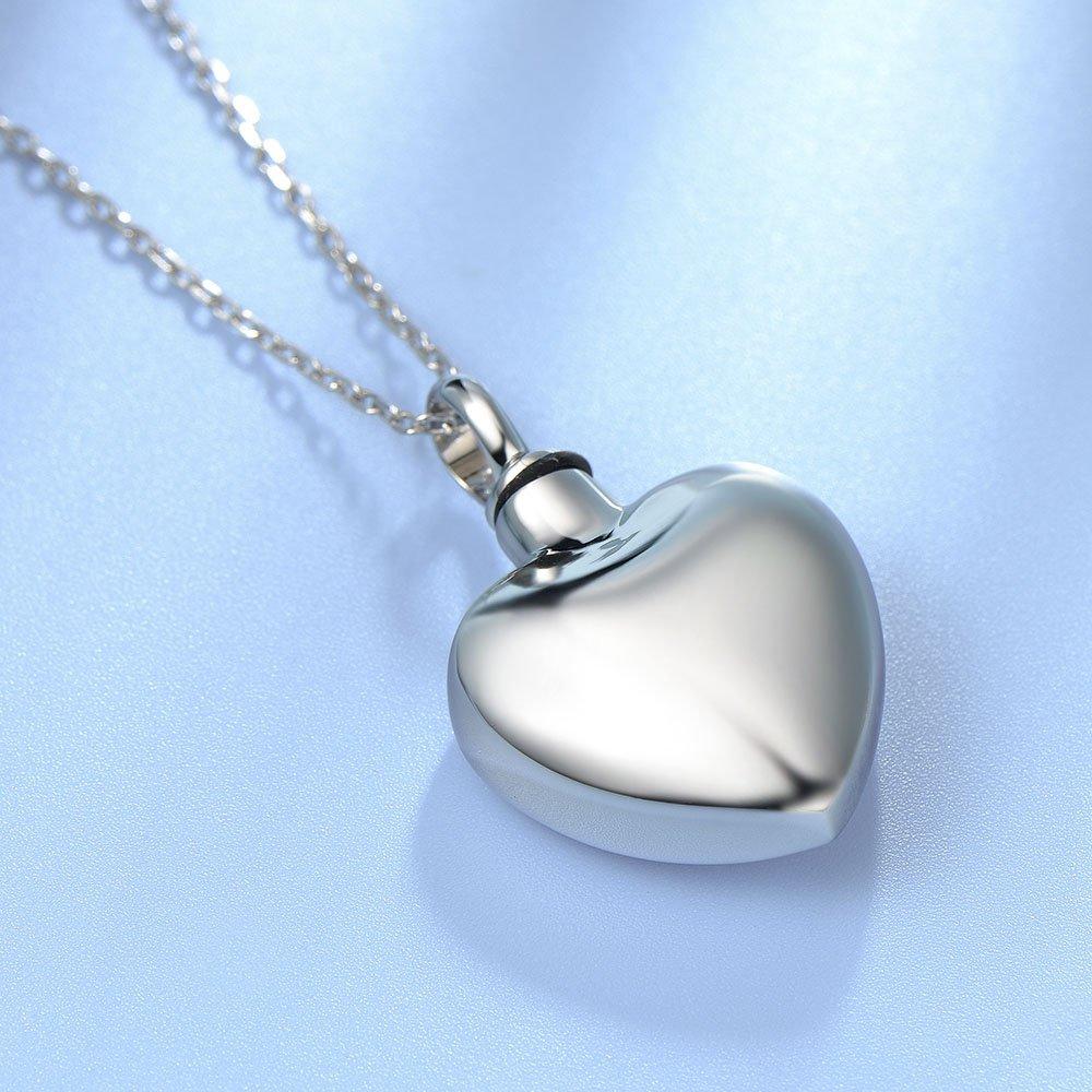 UNY Trendy Stainless Steel Broken Heart Pet Urn Ashes Pendant Memorial Ash Keepsake Cremation Jewelry