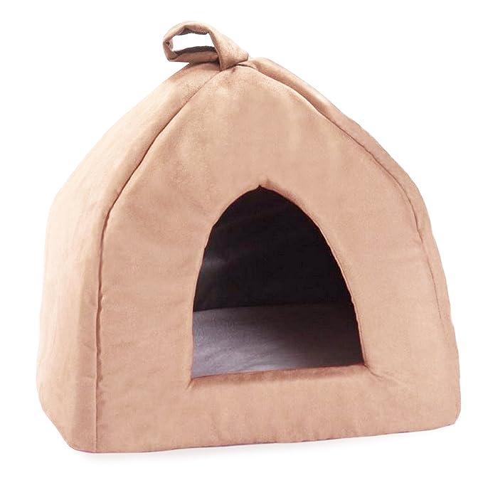 Cosipet - Cama tipo iglú modelo Chelsea para mascotas (41cm/Marrón chocolate): Amazon.es: Ropa y accesorios