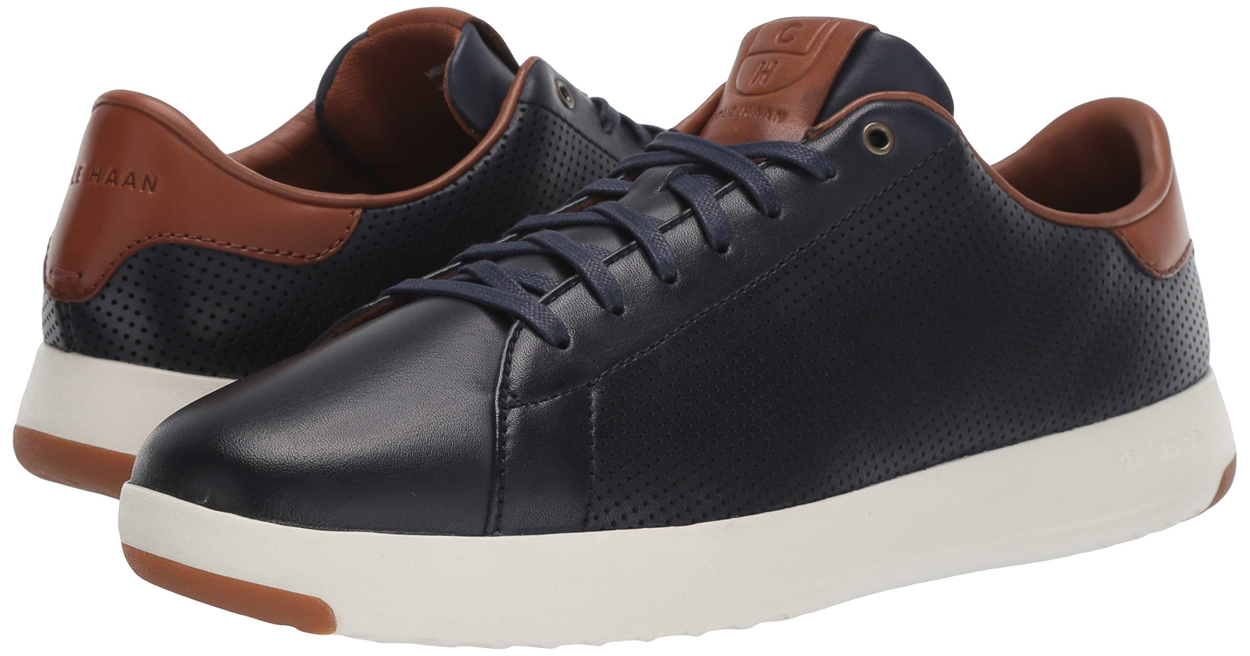 Cole Haan Mens Grandpro Tennis Sneaker 7 Navy Handstained Leather by Cole Haan (Image #6)