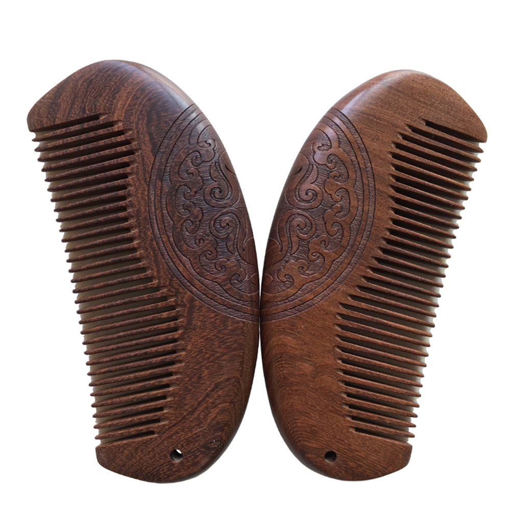 Gracefulvara Pocket Wooden Comb Natural Sandalwood Wood Comb No Static