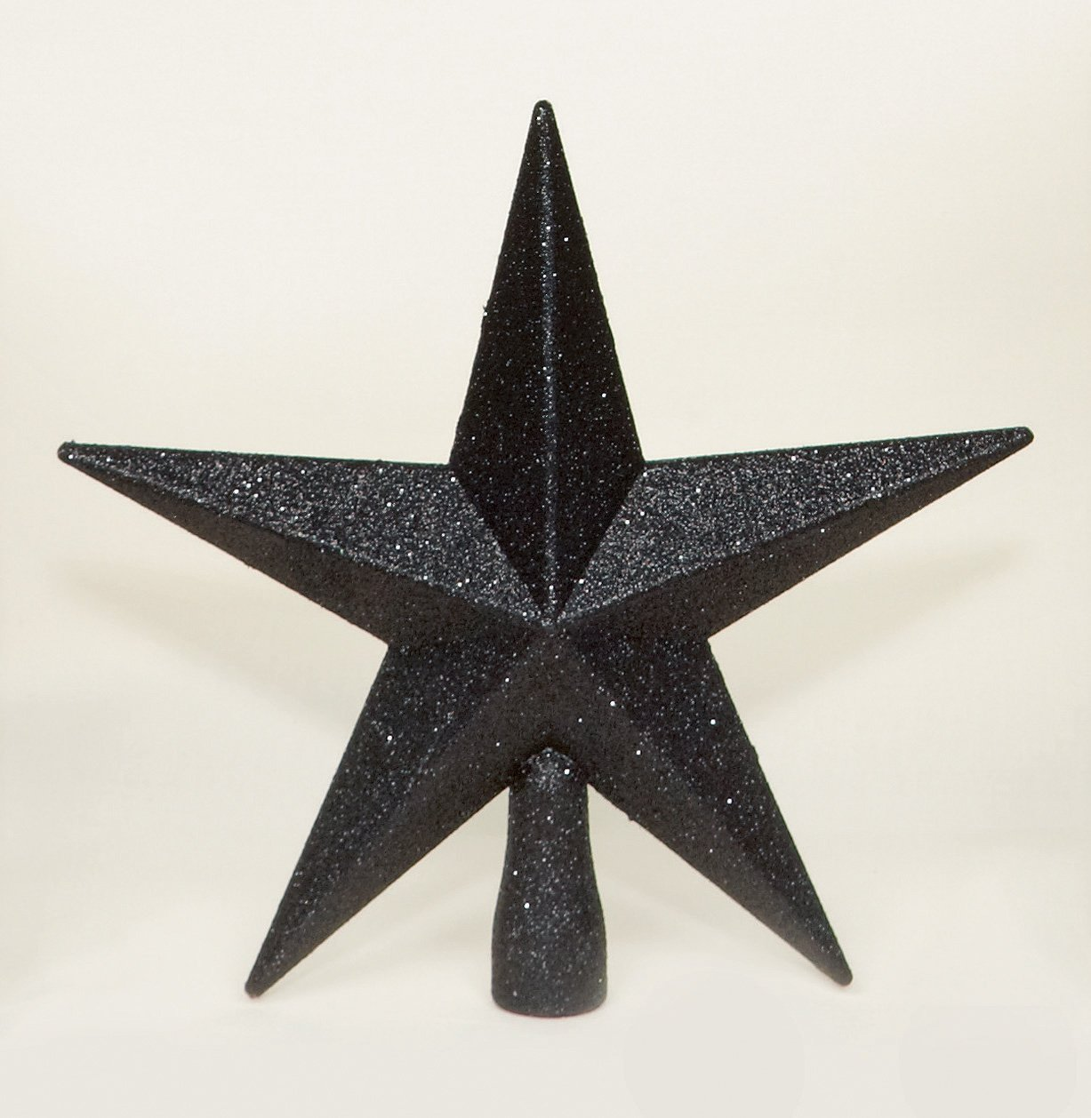 Black Christmas Tree Top Star Topper Glitter finish 20cm premier TD126324BK