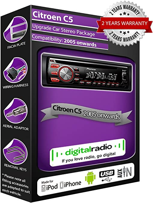 Citroen C5 DAB Radio CD estéreo Pioneer DEH-X6600DAB Incluye ...