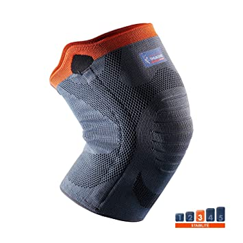 68605a6531475e Verstärkte Kniebandage von Thuasne Sport - Grau Orange - Größe S