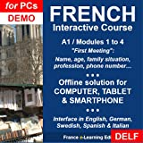 Learn French: Interactive Course - A1 (Beginner)/Modules 1 to 4: 'First Meeting' [Computer/Tablet/Smartphone] - The best way to prepare for the DELF A1/A2 interview - DEMO [Download]