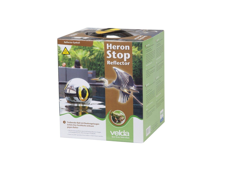 Velda 128034 Teichschutz Spiegelnder Schwimmball gegen Reiher und Tauben Heron Stop Reflector