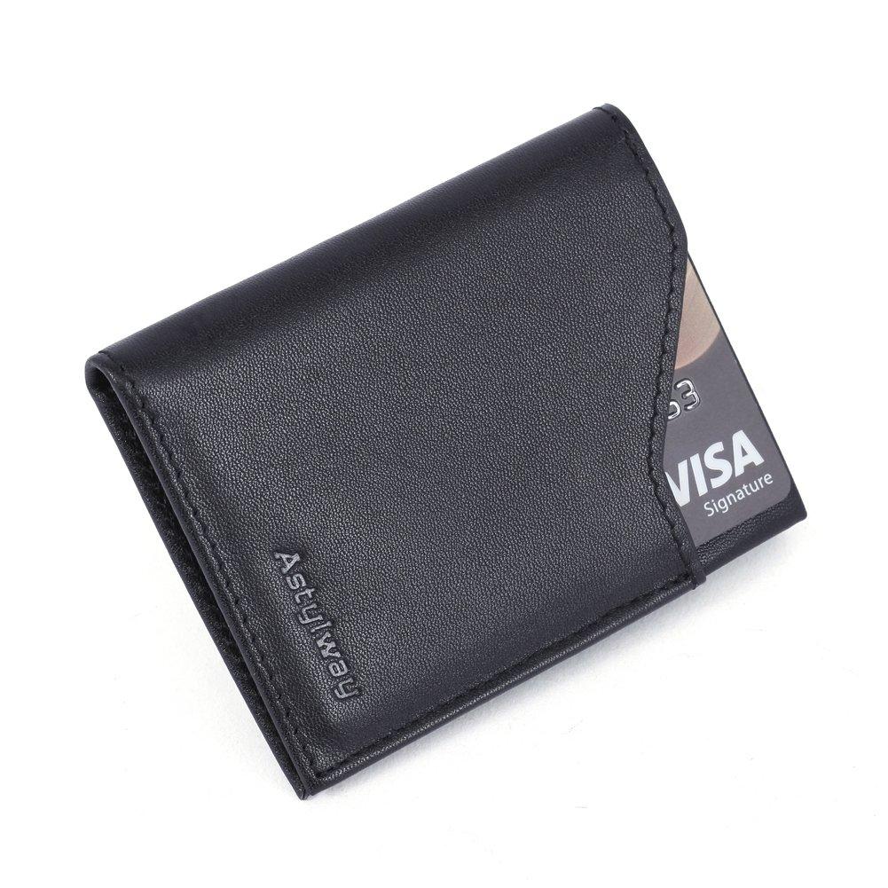 Front Pocket Wallet Slim for Men RFID Minimalist Wallets Credit Card Small Leather Wallet