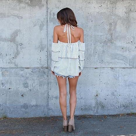 blusas de mujer de moda 2017 manga larga Switchali ropa de mujer en oferta casual atractivo sin tirantes camisetas mujer verano baratas blusas de mujer ...