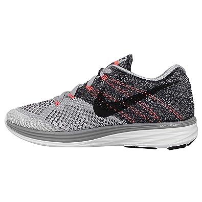Women's Nike Flyknit Lunar 3 Running Shoes Wolf Grey
