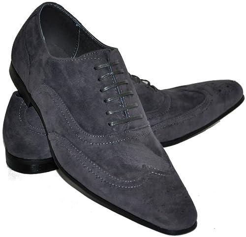 cuir à cher intérieur pas gris nubuck homme Chaussures aspect qvWXzz