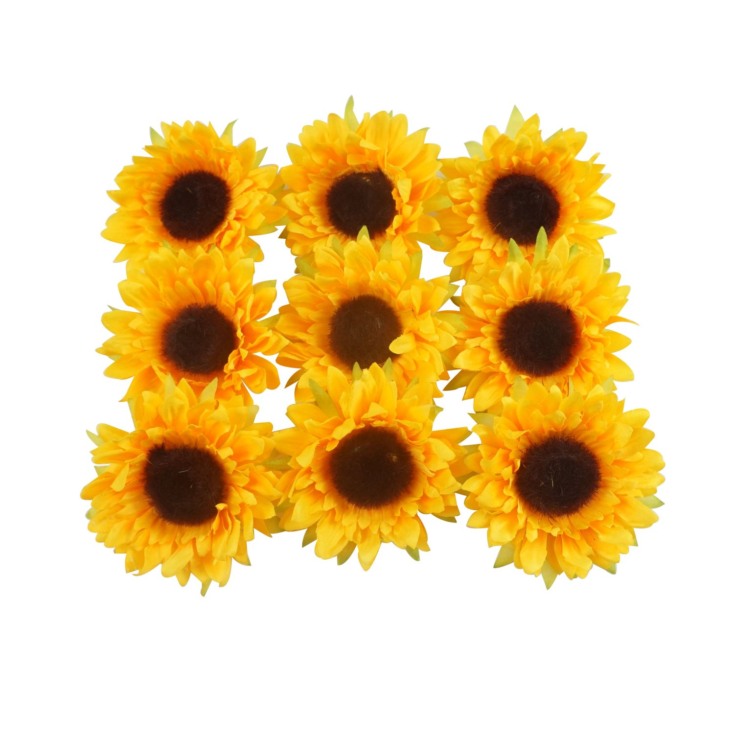 Colorfulife Artificial Silk 3.5 Sunflower Flower Head for Wedding Home Party Decoration Hair Clip Wreath Decorative (24) angelovesmile