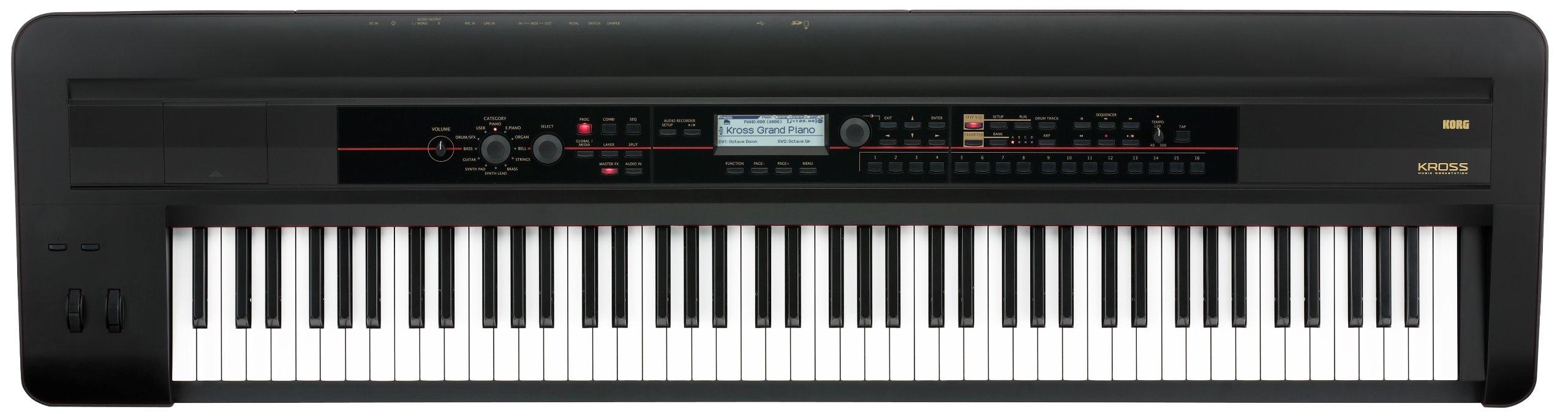 Korg KROSS 88 - Key Black Keyboard Production Station by Korg
