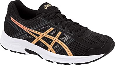 3849692f24c07 ASICS Gel-Contend 4 Women's Running Shoe, Black/Apricot Ice/Carbon, 8.5 M US