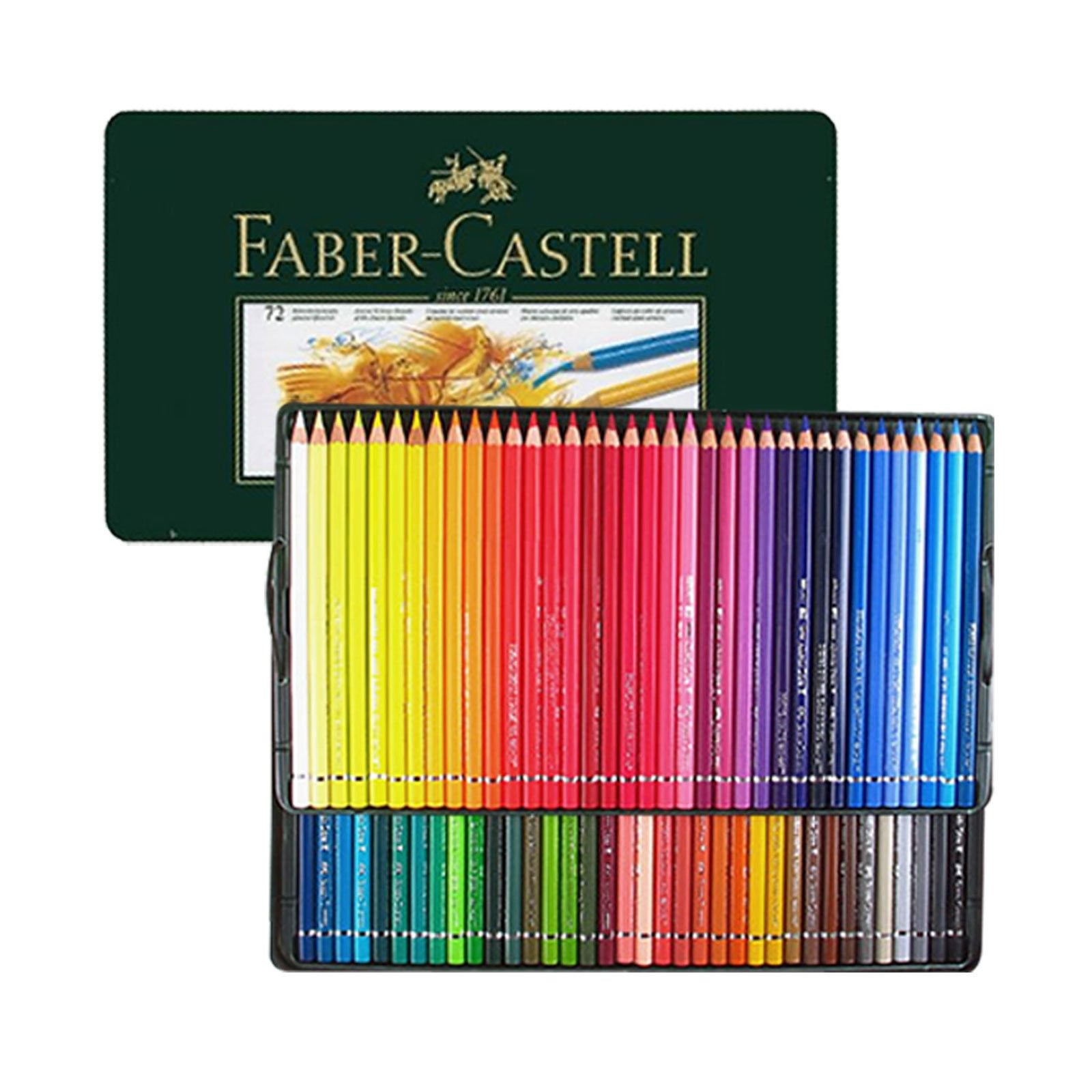 Faber Castell Polychromos Artists's color Pencils 72 Colors In Metal Tin by Polychromos Color Pencils