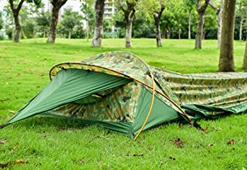 OneTigris Solo Bivvy Tent Waterproof Cover for Sleeping Bag Ultralight One Man Bivvy Shelter for Backpacking & OneTigris Solo Bivvy Tent Waterproof Cover for Sleeping Bag ...