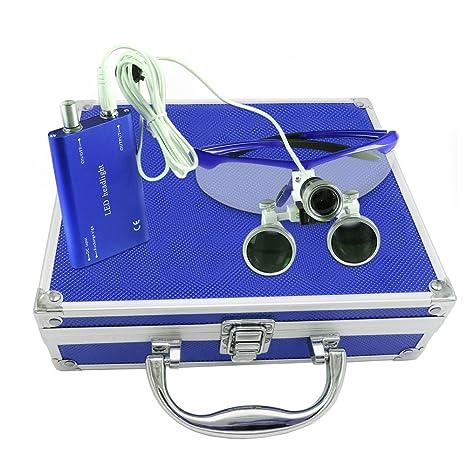 BoNew - Juego de lupa dental y binocular (3,5 x R, con caja ...