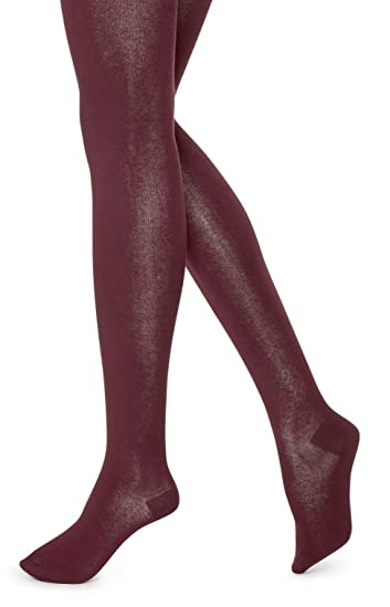 bd3df9d20fa95 Hue Women's Flat Knit Sweater Tights Deep Burgundy Small/ Med at Amazon  Women's Clothing store: