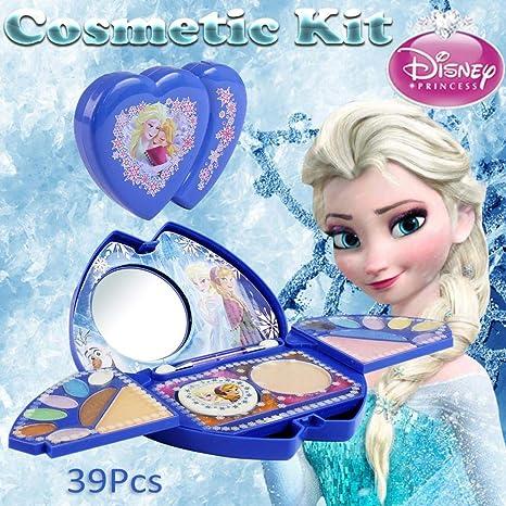 kitabetty Kit Cosmético 39PCS Para El Juguete De Maquillaje Disney Frozen Princess Series | Lavable Y No Tóxico | Maquillaje Princesa Real Con Espejo | Regalo Ideal Para Niños.: Amazon.es: Bebé