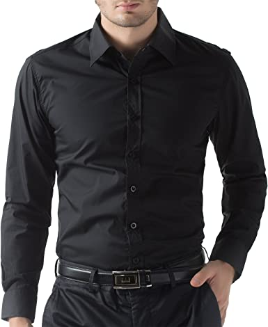 Para hombre Paul Jones negro Slim patrones de costura para ...