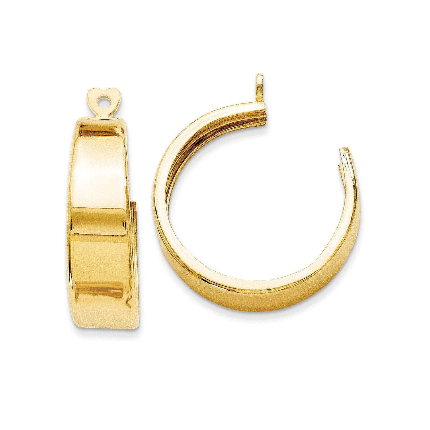 Roy Rose Jewelry 14K Yellow Gold Polished Hoop Earring Jackets 24mm length