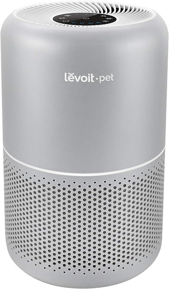 LEVOIT Purificador de aire para alergias en el hogar y pelo de mascotas, fumadores en el dormitorio, filtro HEPA verdadero, sistema de filtración de 24 dB, eliminador de olores, elimina el polvo