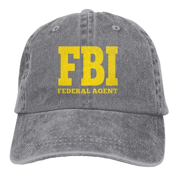 Pastcloud Hat FBI Federal Bureau of Investigation Women s Baseball Cap  Retro Jean Golf Cap d43df6ea363