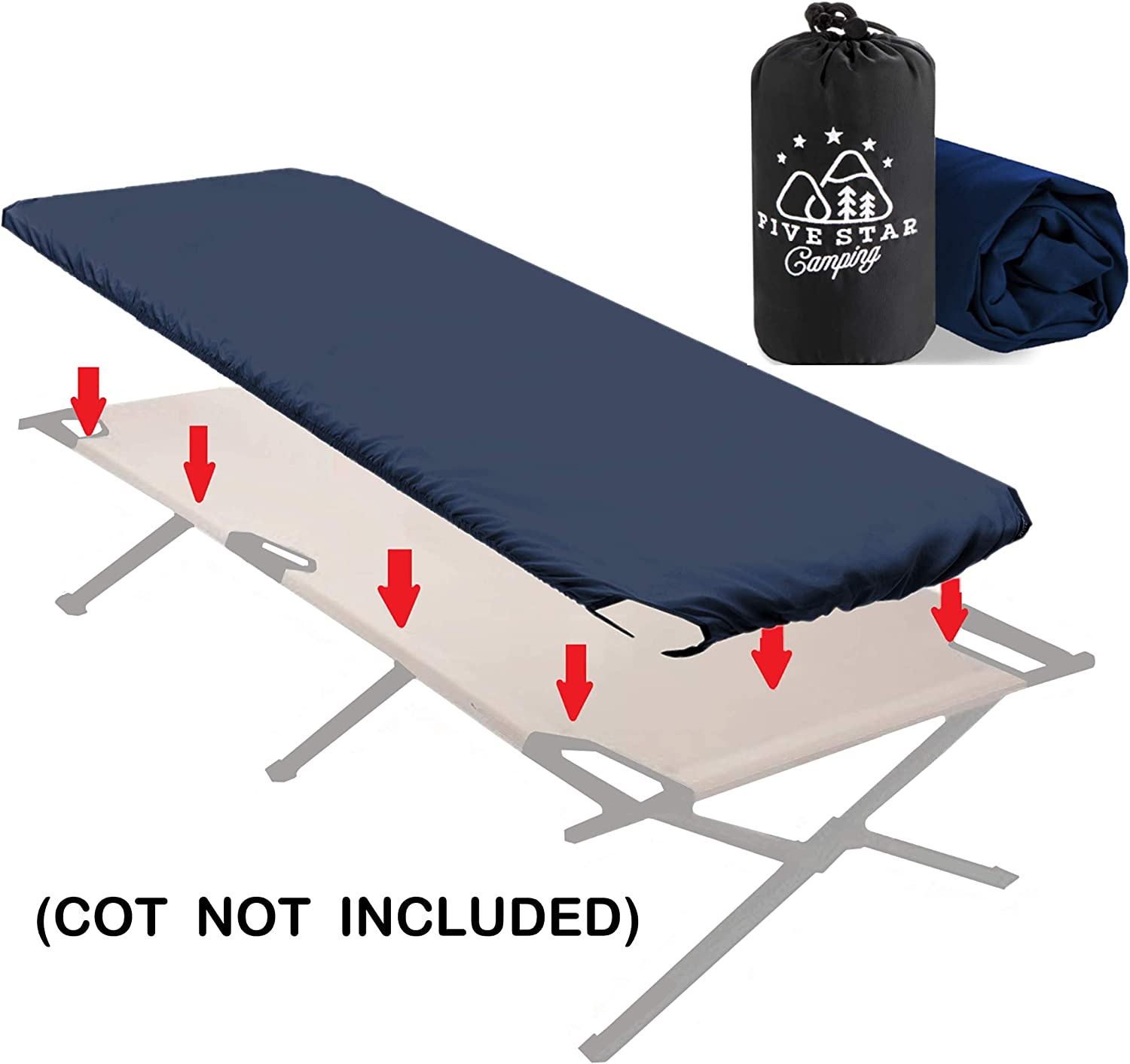 Camping Bedding That fits Most Army cots Military cots Great for Hunting Travel cots and Folding Cots Keeps Your Sleeping Pad Secure! Fitted Camping Cot Sheet for Adult Sleeping Cots