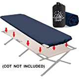 Fitted Camping Cot Sheet for Adult Sleeping Cots. Great for Hunting! Camping Bedding That fits Most Army cots, Military cots, Travel cots and Folding Cots Keeps Your Sleeping Pad Secure!