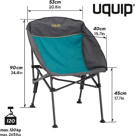 compacta y ligera Silla plegable resistente Silla de camping plegable Uquip Comfy