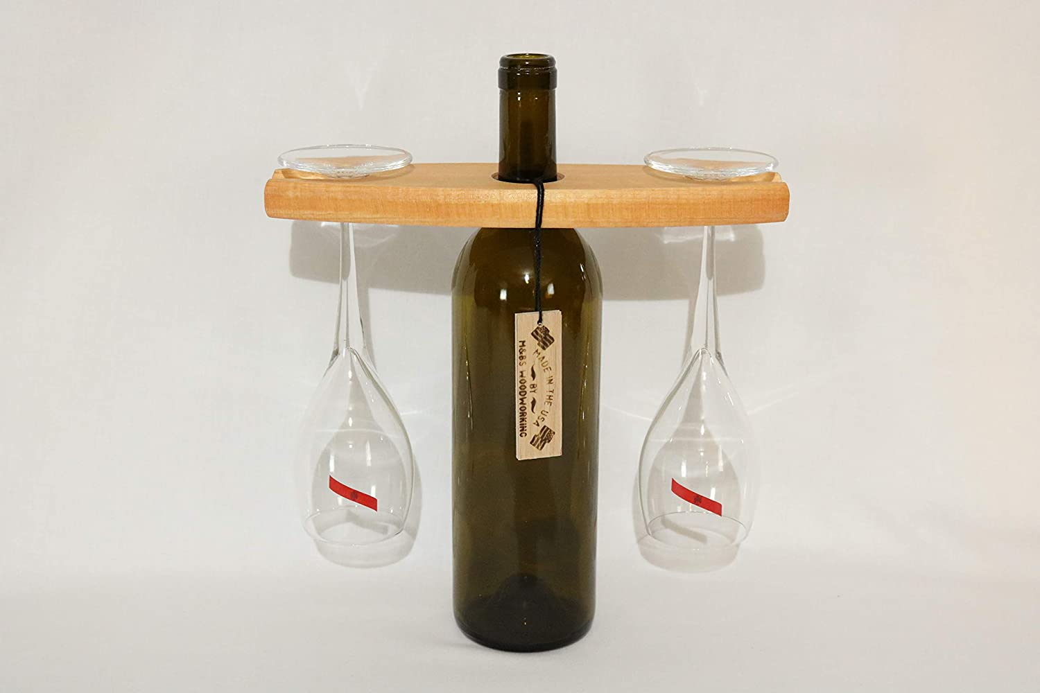 M/&BsWoodWorkingUSA Wooden Wine Glass Holder Colonial Maple