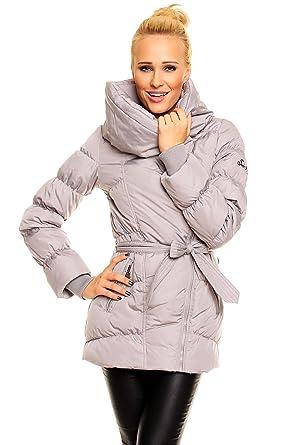 Fresh Made Daunenjacke Kurz Mantel Wintermantel Steppjacke XL Kragen