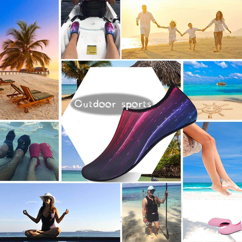 TcIFE Chaussures Aquatiques Femme Homme Chaussures deau Chaussures de Plage de Yoga de Surf de Nager Sport de Plong/ée pour Piscine