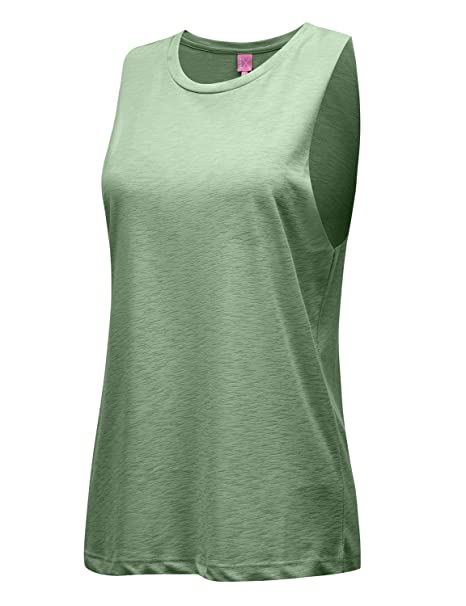 4c4032f4842 REGNA X NO BOTHER Women s Sleeveless Plunge neck Fitness Sports Tunic Tank  Tops Olive Green 2XL Plus at Amazon Women s Clothing store