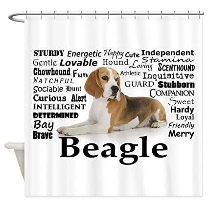 Amazon CafePress Beagle Traits Decorative Fabric Shower Curtain