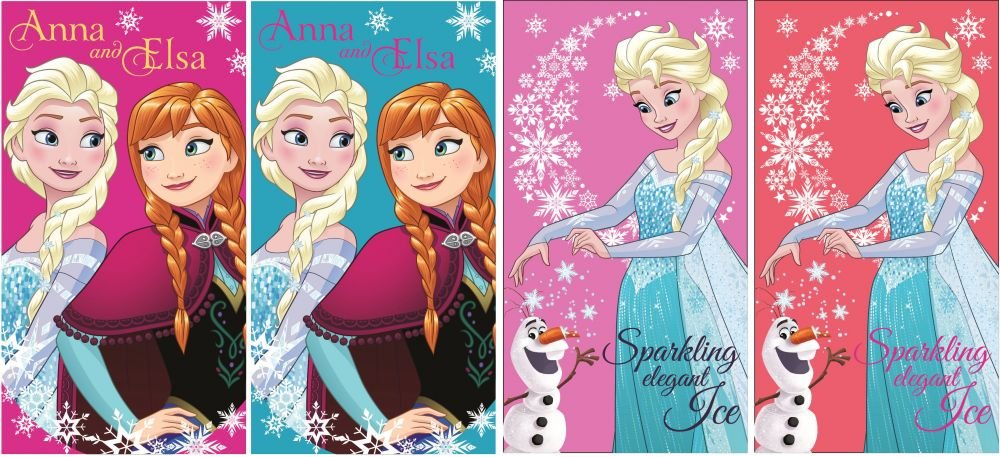 Disney Frozen La Regina Dei Ghiacci Set 4pezzi asciugamani 35x 65cm (69925) Cottonland