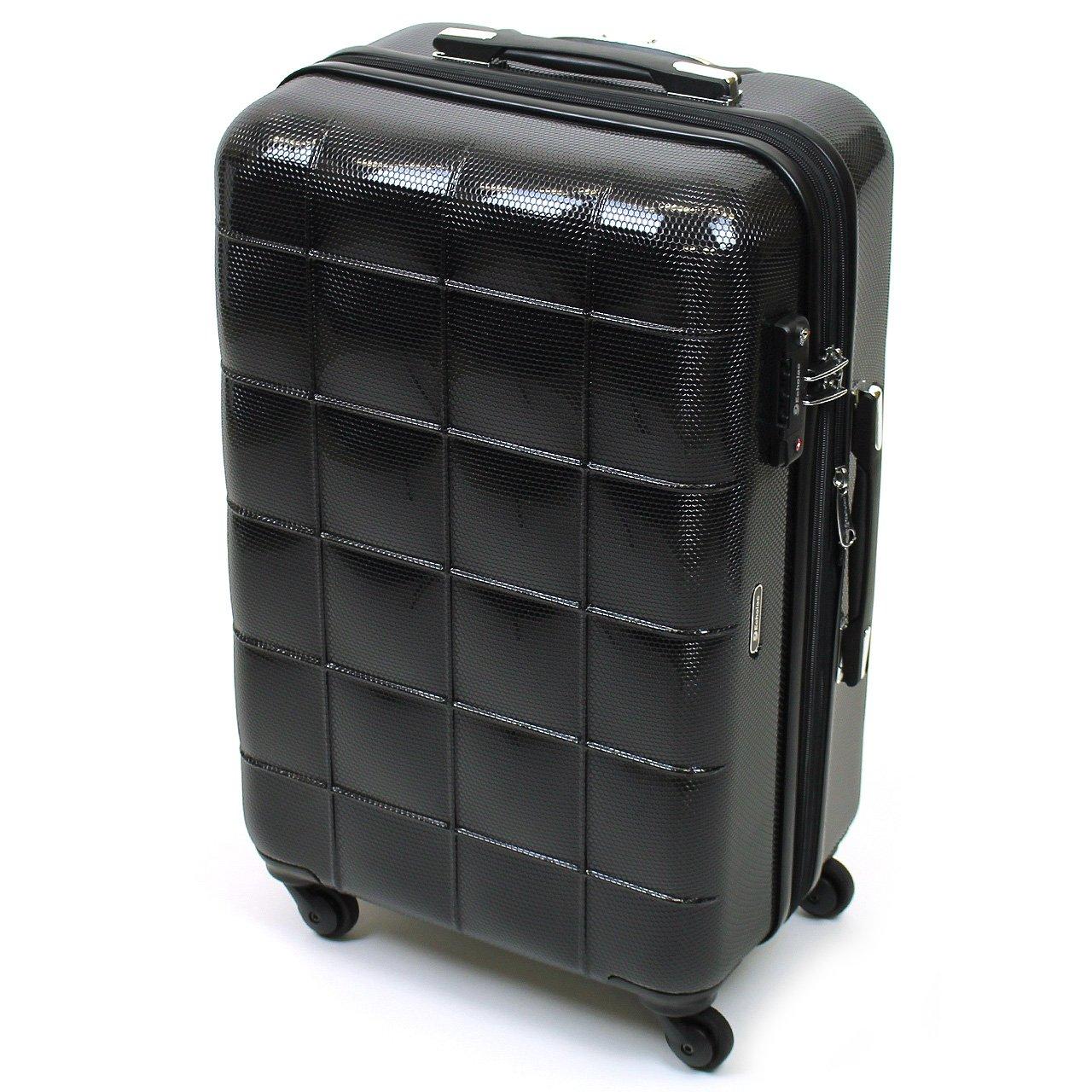 [Echolac(エコーラック)] スーツケース スクエア 60+9L 59.5cm 4kg PC005-24  ブラック B07F2HQG14