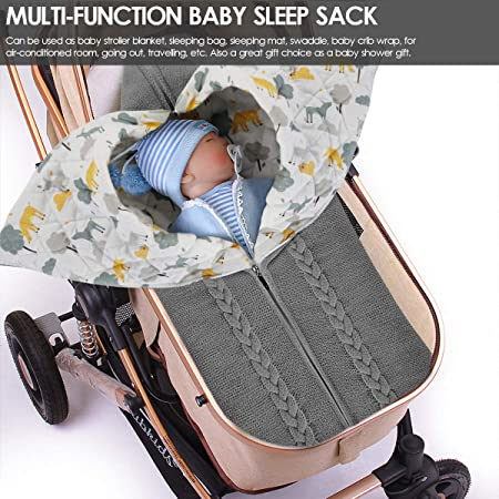 wickel häkeln warm kinderwagen wickeln kleinkind schlafsack knited decke baby