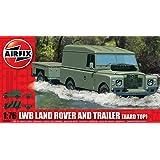 Airfix - A02324 - Construction et Maquettes - Bâtiment - LWB Land Rover (Hard Top) & Trailer