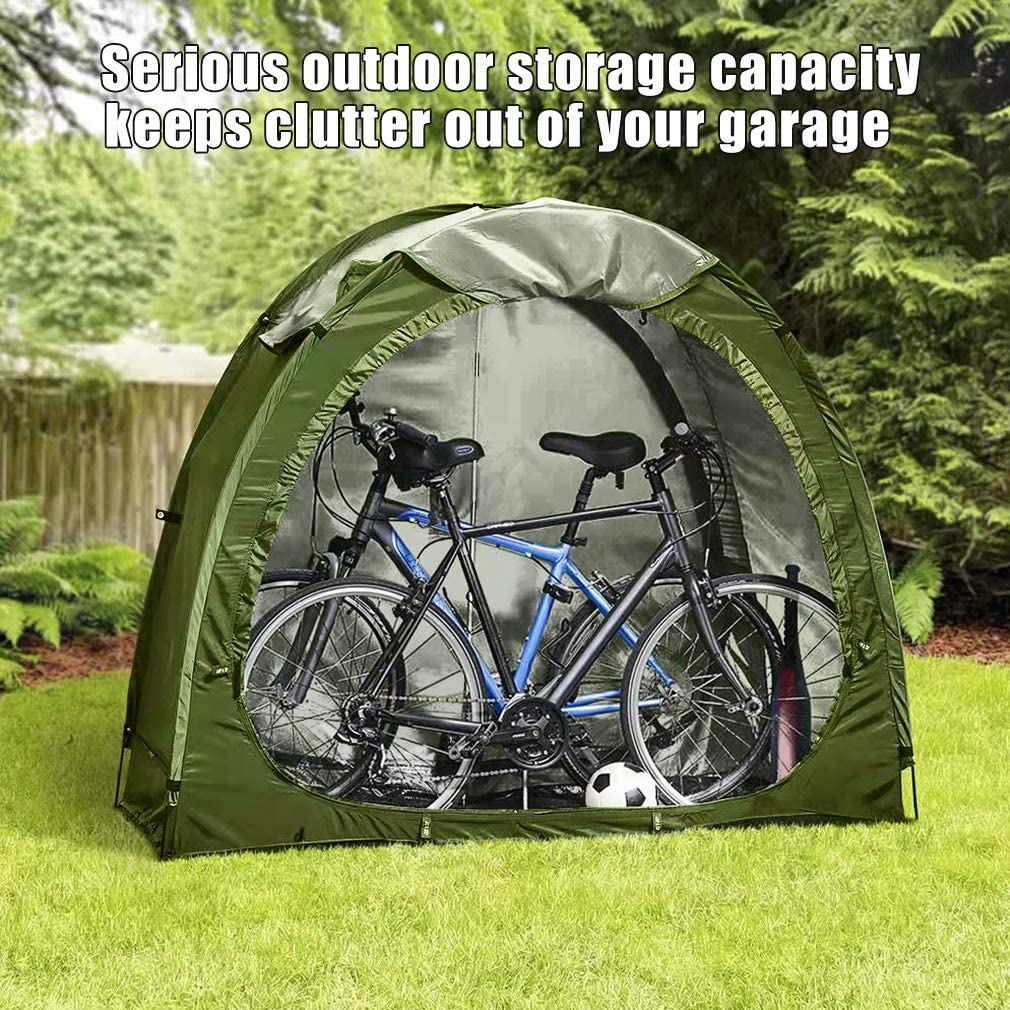 Upgrade Polyester Waterproof Bicycle Shed Portable Foldable Pool Tools AFLIFLI Bike Cover Storage Tent Garden Storage Sheds for Outdoor Camping