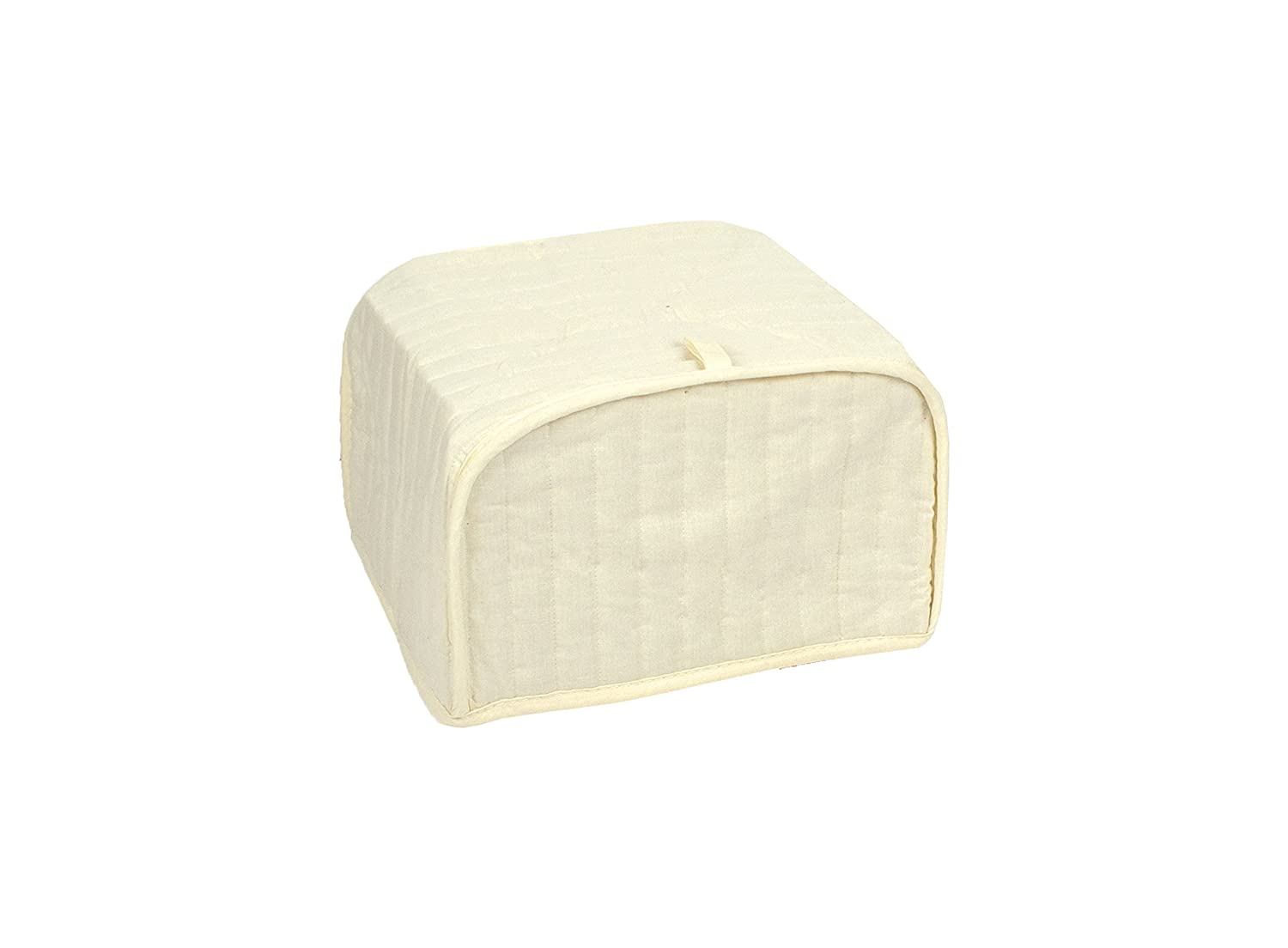 RITZ Polyester / Cotton Quilted Two Slice Toaster Appliance Cover, Dust and Fingerprint Protection, Machine Washable, Natural
