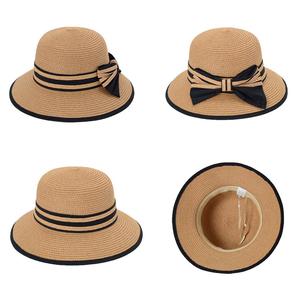 kekolin Fashion Classic Womens Foldable Sun Beach Straw Hats accessories at Amazon  Women s Clothing store  bf07711b0ce2