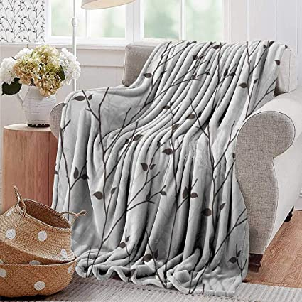 Fine Amazon Com Pearlrolan Soft Cozy Throw Blanket Leaf Branches Gmtry Best Dining Table And Chair Ideas Images Gmtryco