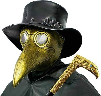 PartyHop Mascara Doctor Peste, Pico De Pájaro De Oro Disfraz ...