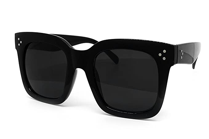 224bd28944ba5 O2 Eyewear 7222 Premium Oversize XXL Women Men Mirror Brand Style Fashion  Sunglasses (ALL BLACK