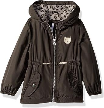 OshKosh Girls Cute Midweight Fleece-Lined Jacket Down Alternative Jacket