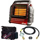 Mr. Heater Propane Big Buddy Portable Heater w/ Water Res Bag & 10' Propane Hose & Regulator - RV Bundle